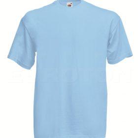 value weight t-majica kratek rokav nebesno modra