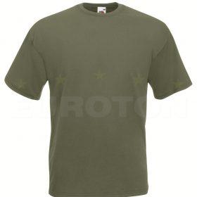 value weight t-majica kratek rokav olivno zelena