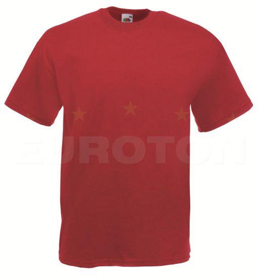 value weight t-majica kratek rokav opečno rdeca