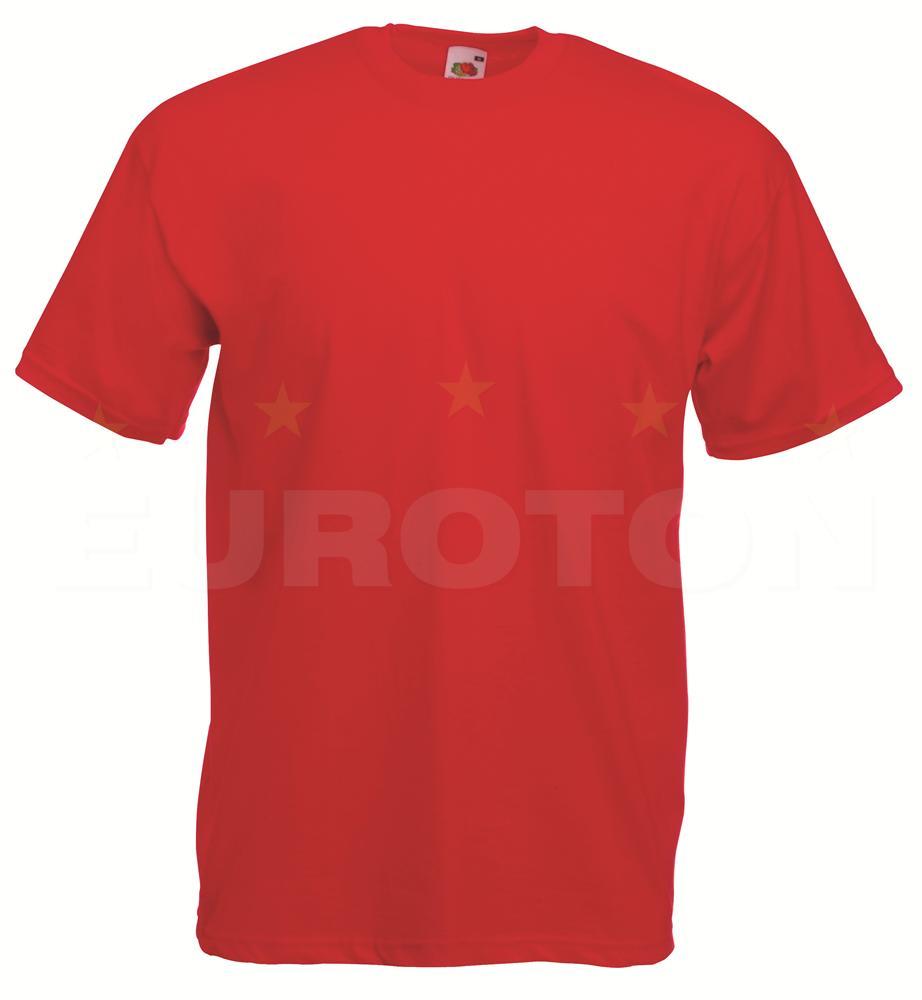 value weight t-majica kratek rokav rdeča