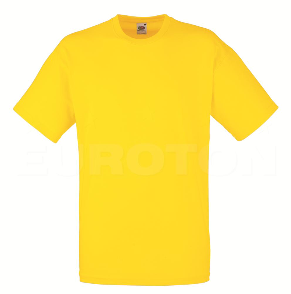 value weight t-majica kratek rokav rumena