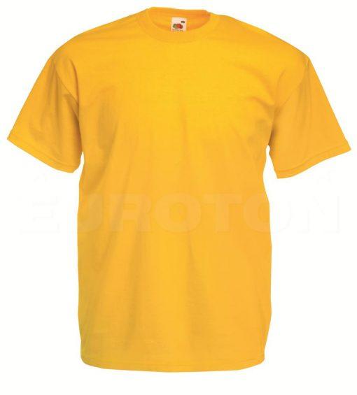 value weight t-majica kratek rokav sončnična