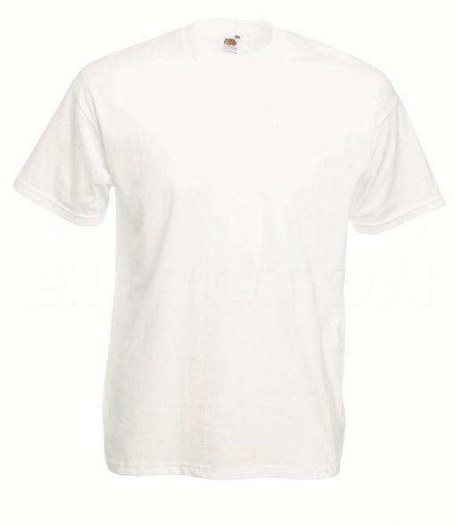 value weight t-majica kratek rokav bela
