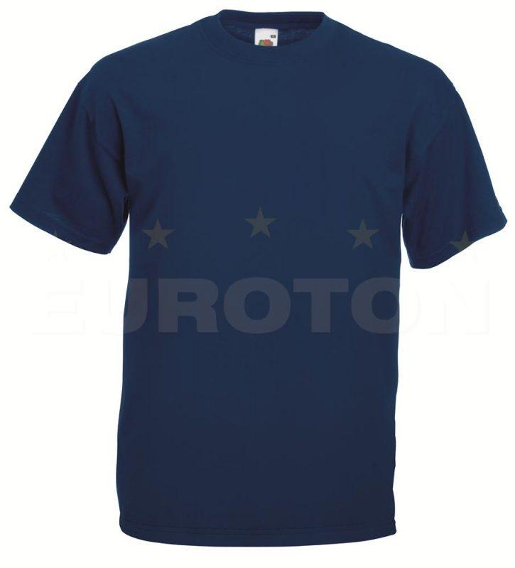 value weight t-majica kratek rokav mornarsko modra