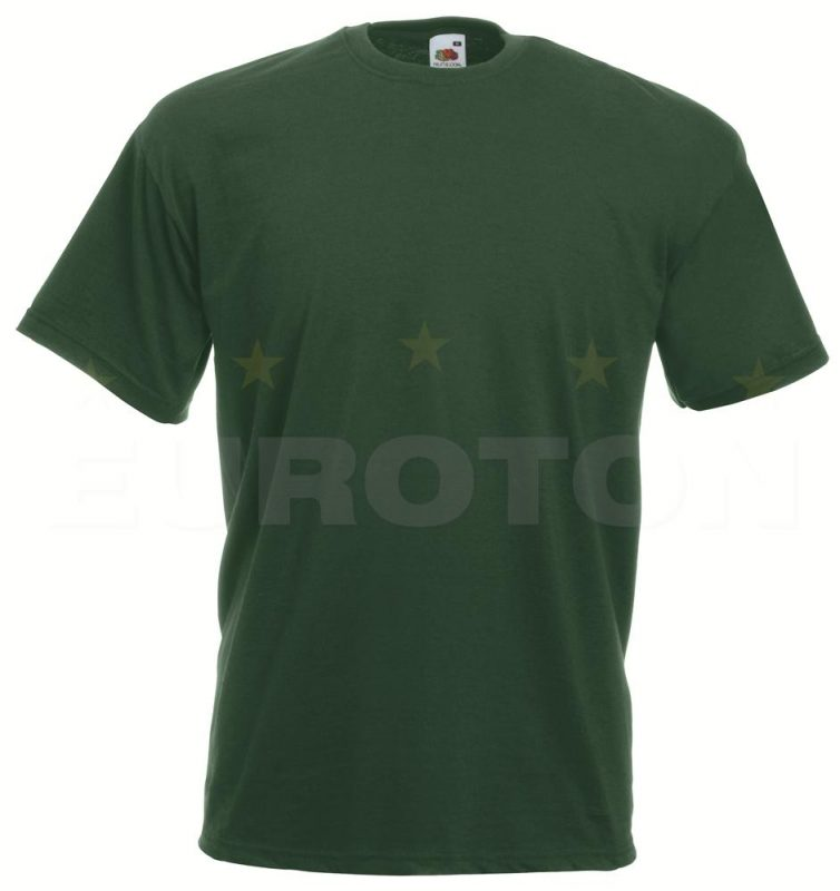 value weight t-majica kratek rokav stekleno zelena