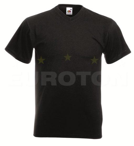 Value weight t-majica z V izrezom grafitna črna