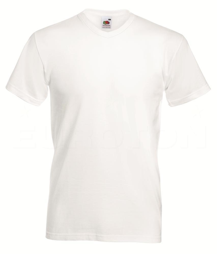 Value weight t-majica z V izrezom bela