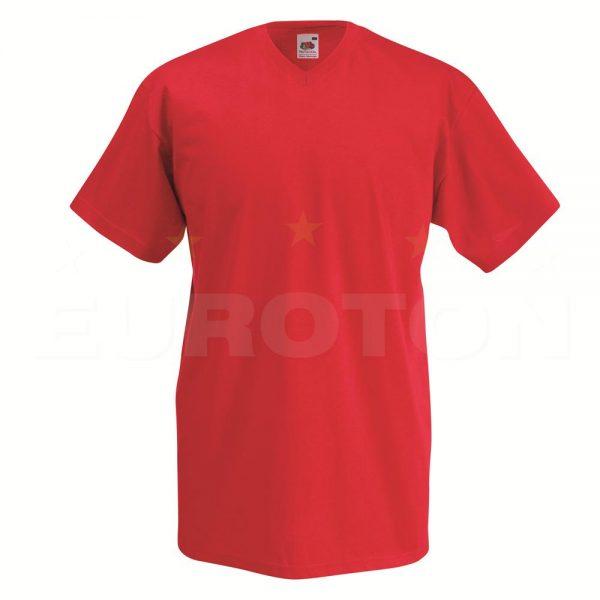 Value weight t-majica z V izrezom rdeča