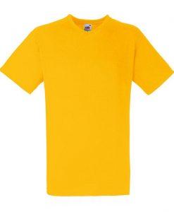 Value weight t-majica z V izrezom sončnična