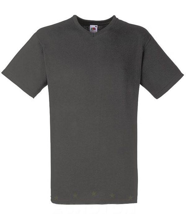 Value weight t-majica z V izrezom grafitna