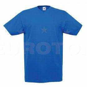 Value weight t-majica z V izrezom modra