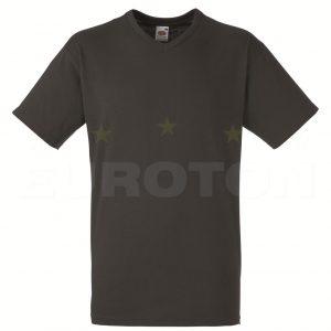 Value weight t-majica z V izrezom ogljena