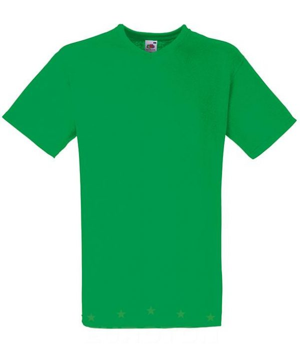 Value weight t-majica z V izrezom zelena